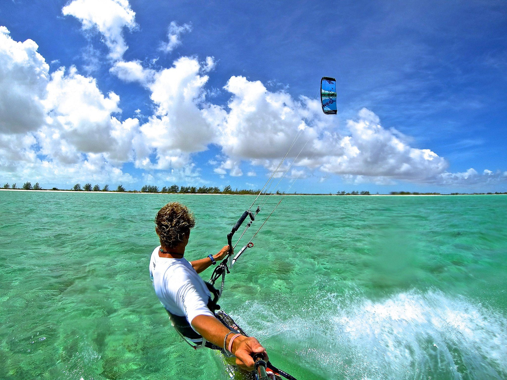 Beginner's Guide to Kiteboarding on Turks and Caicos - White