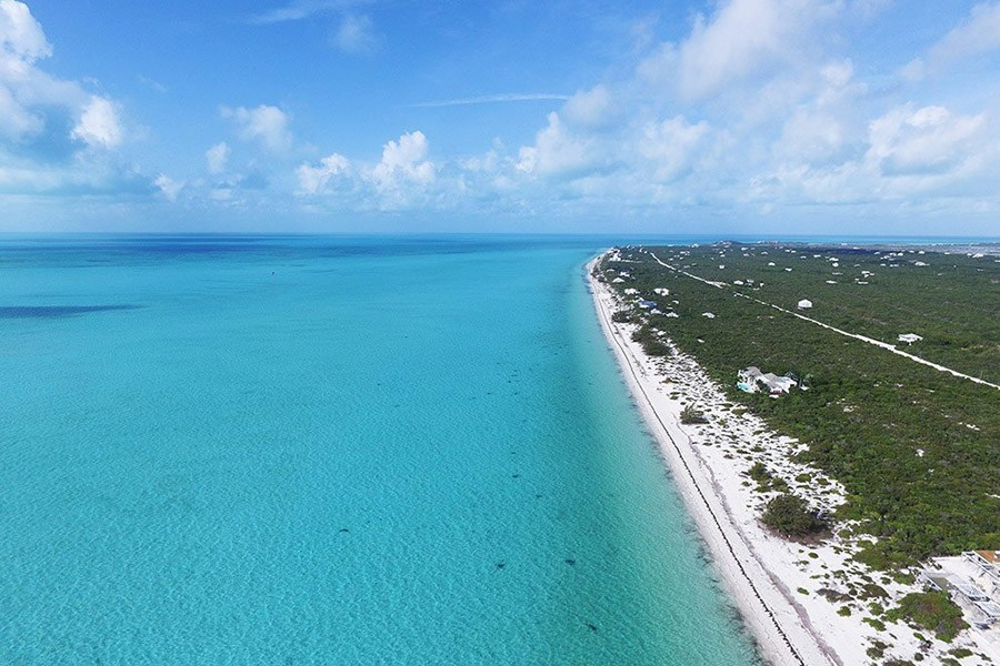 Long Bay Beach is a quiet, pristine beach on Turks and Caicos