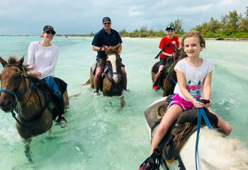 family travel in Turks and Caicos - Horse Ride