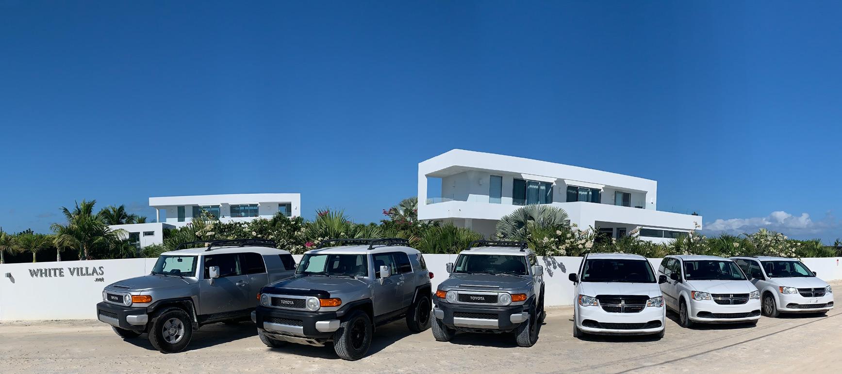White Villas' Vehicles