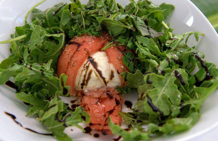 Stuff Heirloom Tomato with Mozzarella