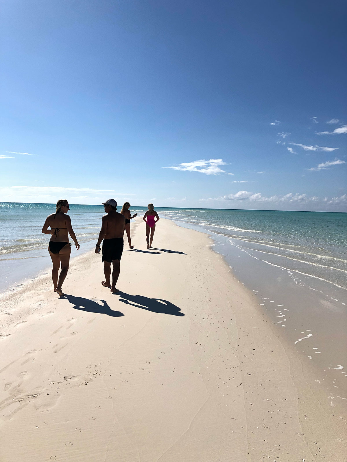 walk in the sand Turks and Caicos